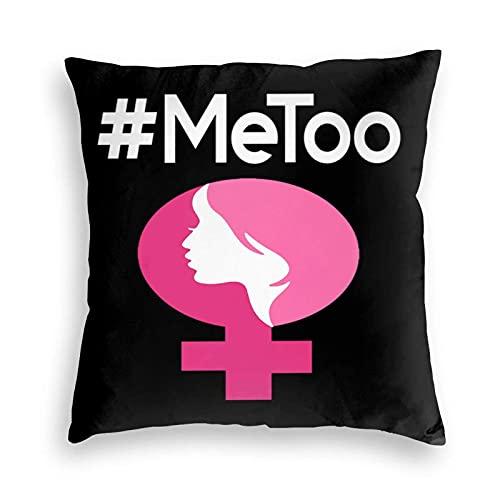BEDKKJY Me Too No Silence No Sexual Harassment Funda de Almohada de Terciopelo Funda de Almohada para el Suelo Cojín para sofá