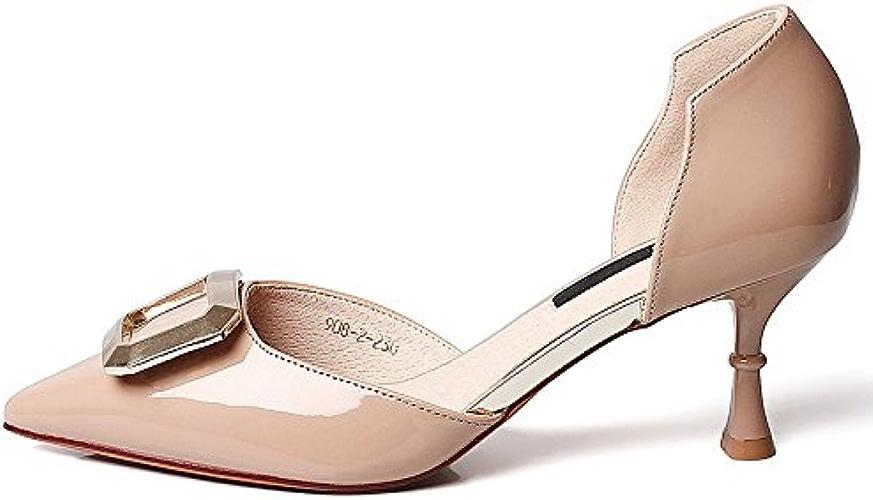 YMFIE Printemps et été Sexy avec des Chaussures Simples Pointues Dames élégantes Chaussures de Travail de tempérament