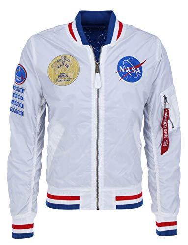 ALPHA INDUSTRIES Herren Ma-1 NASA Voyager Rev. Jacke, Blanco, 3XL