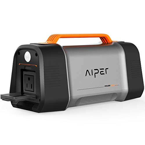 AIPER Portable Power Station Flash 150, Solar Generator 162Wh 45000mah Backup Power Supply with 110V/150W AC Outlet, Type C and QC3.0 USB Fast Charge, LED Flashlight for Outdoor Camping Emergency