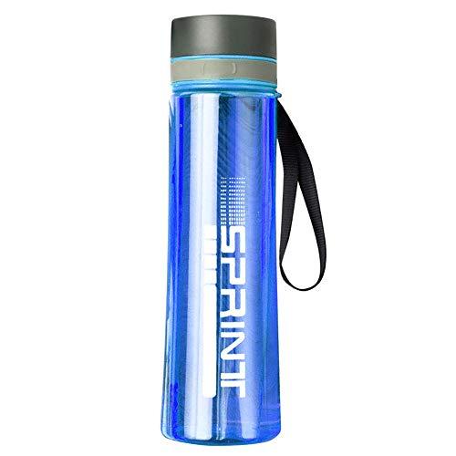 Funight Botella de agua de 1000 ml, hervidor de agua portátil, gran capacidad, botella deportiva a prueba de fugas, para deportes al aire libre, viajes, camping, color azul