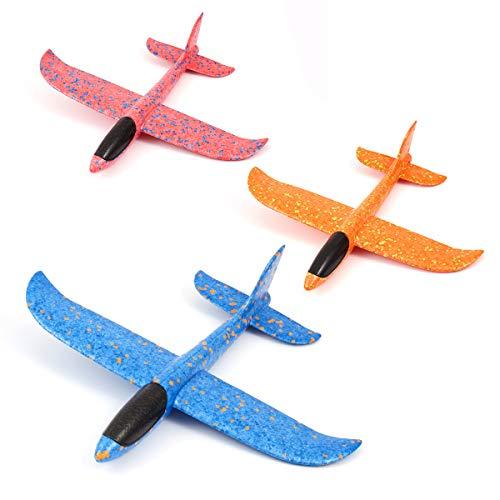 Welltop Aerei da aliante, Giocattoli Aereo in Schiuma Aeroplano di Carta Manuale da Lancio Kit Modello di Giocattolo per Ragazzi Ragazze Bambini Sport all'Aria Aperta, 2 modalità di Volo Aeroplano