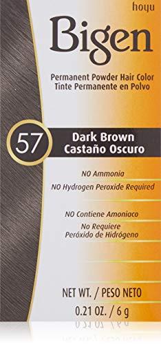 Bigen Powder Hair Color #57 Dark Brown 0.21oz (2 Pack)