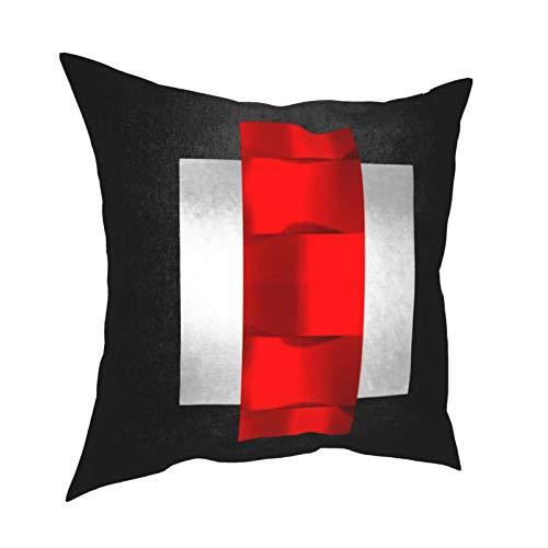Fundas de almohada, geométricas D dimensionales, rojo, negro, gris, plata, para sofá, sala de estar, cama, 45,7 x 45,7 cm