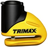 Trimax T645S Hardened Metal Disc Lock - Yellow 5.5mm Pin (Short Throat) with...