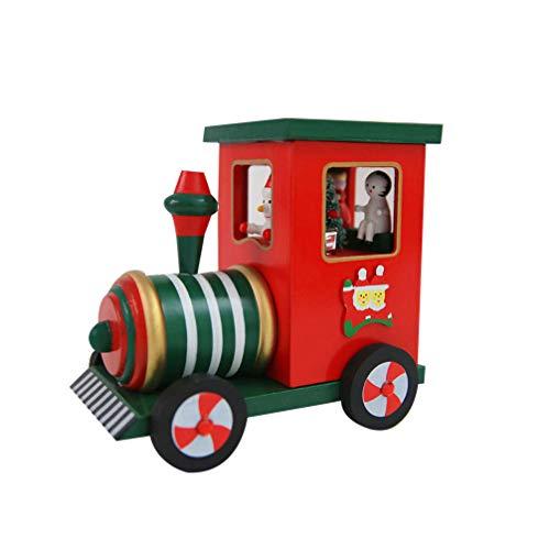 Amosfun Carillon Treno Di Natale Regalo Per Bambini Giocattoli Per La Decorazione Del Desktop Festa Di Natale