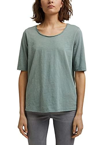 Esprit 071EE1K346 Camiseta, 335/Dusty Green, M para Mujer
