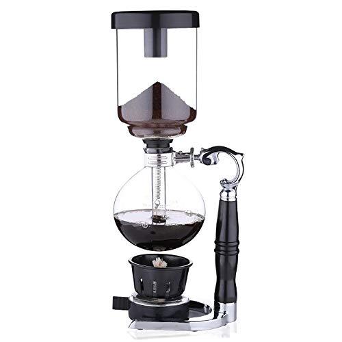 Feixunfan Siphon Kaffeemaschine Haushalt Siphon Kanne Set Siphon Kaffeemaschine Manuelle Glaswaren für Kaffee und Tee, glas, Schwarz , 34x15cm