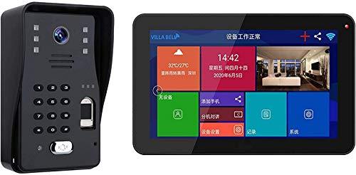 Sistema intercomunicación con videoportero inalámbrico - Kit timbre con monitor LCD 9...