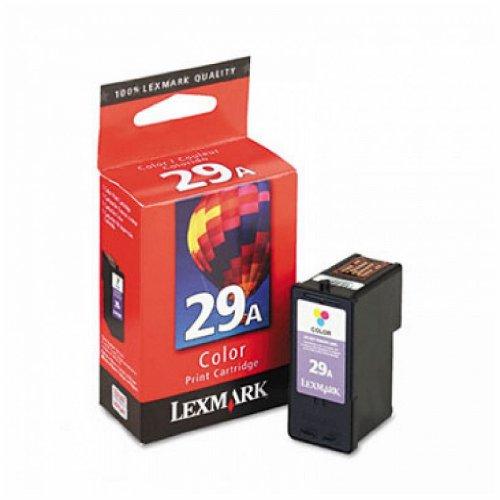 Lexmark Cartridge No. 29A - Print cartridge - 1 x color (cyan, magenta, yellow) - for X2500, 2510, 2530, 2550, 5070, 5075, 5320, 5340, 5410, 5490, 5495, Z1300, 1310, 1320, 845 29a Color Print Cartridge
