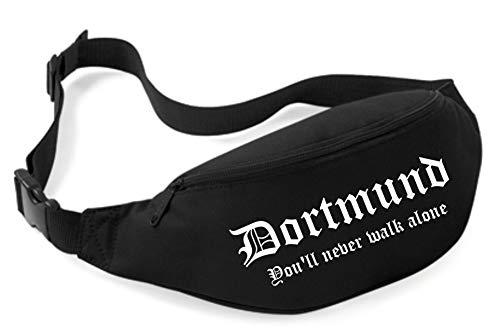Uglyshirt89 Dortmund Bauchtasche   Ultras Fussball Sport Fan Tasche (Schwarz)