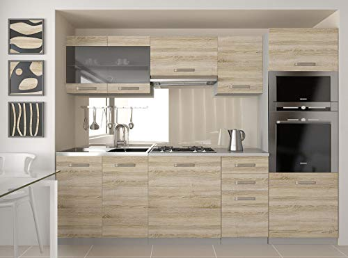 Tarraco Comercial Muebles Cocina Completa Paula Sonoma 240 cm