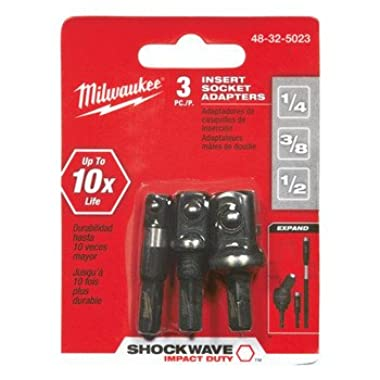 Milwaukee Accessory 48-32-5023 Insert Socket Set, 3 Pieces, Holds Sockets