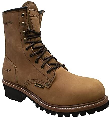 Ad Tec Max 87% OFF 9in Mens Logger Waterproof Work Gifts Boots Leather Horse Crazy