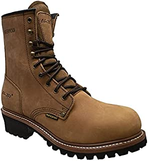 """AdTec 9"""" Super Logger Soft Toe Boots for Men, Leather Goodyear Welt Construction & Utility Footwear, Durable and Long Last..."""