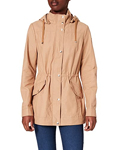 Geox W ROOSE L - POLY COTTON JACKET, Mujer, TAN