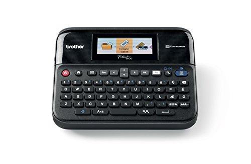 Brother PTD600 - Rotuladora electrónica de sobremesa (pantalla a color, teclado y conexión a PC) ✅
