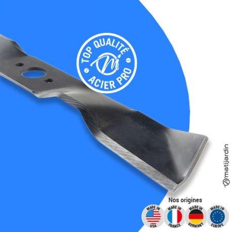 Lame tondeuse pour Husqvarna Rider Proflex 18 531 00 75-24 coupe 41,2 cm - Pièce neuve