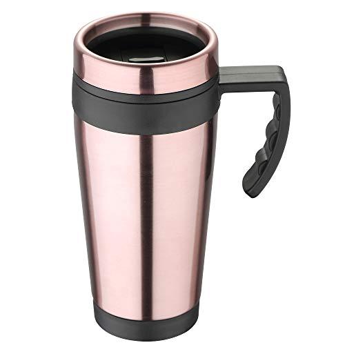 BERGNER Q3073 Reisebecher 400ml Polypropylen pink Neon classic, Aluminium