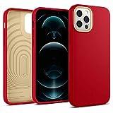 【Caseology】 iPhone 12 / 12 Pro ケース TPU シリコン質感 薄型 耐久性 サラサラ 耐衝撃 指紋防止 iPhone12 iPhone 12Pro ナノ・ポップ (アップル・レッド)
