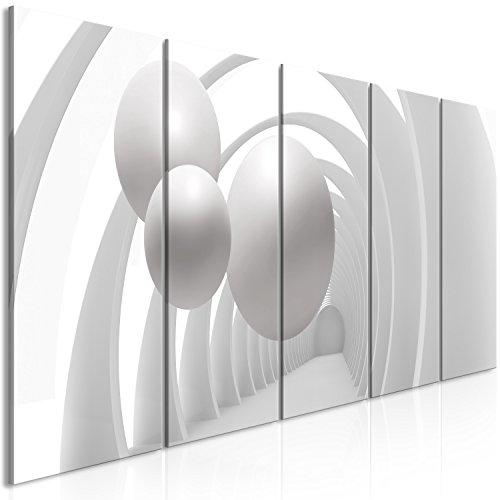murando - Bilder 3D Effekt 100x40 cm Vlies Leinwandbild 5 TLG Kunstdruck modern Wandbilder XXL Wanddekoration Design Wand Bild - Kugeln a-B-0034-b-m