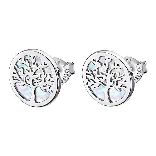 Pendientes Lotus Silver con forma de árbol de la vida, de plata LP1821-4/1 JLP1821-4-1