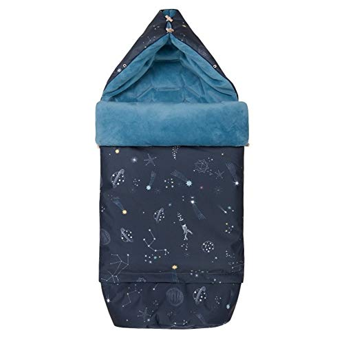 Sevira Kids - Chancelière XXL universelle - multi-usage - imperméable - 0 à 4 ans - Galaxie Bleu
