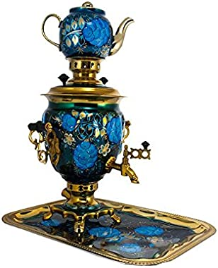 "Samovar electric 3 liters""Tula"" in the set""Grapes"" hand-painting"