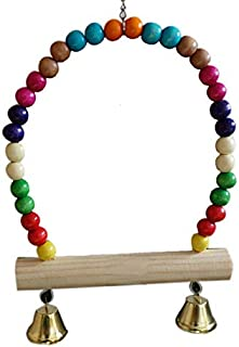 Sage Square Natural Wood Hanging Swing Toy for Small & Medium Birds