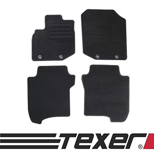 CARMAT TEXER Textil Fußmatten Passend für Honda Jazz III Bj. 2008-2013 Basic