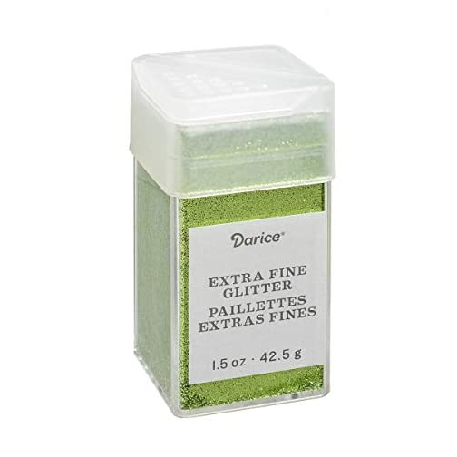 Pesto Extra Fine Glitter 1.5 Ounces Canister w/Pour or Shake Lid - Green |