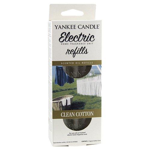 YANKEE CANDLE C159-19 Clean Cotton diffusore Elettrico Doppio Confezione di Ricarica, Multicolore, 18.8x7x4.5 cm