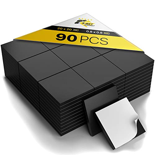 Magnetic Squares - Flexible Magnetic Sheet of 90 Self Adhesive Magnetic Squares (each 4/5' x 4/5') - Sticky Magnets - Magnetic Tape is Ideal Alternative to Magnetic Strip, Stickers and Magnetic Roll