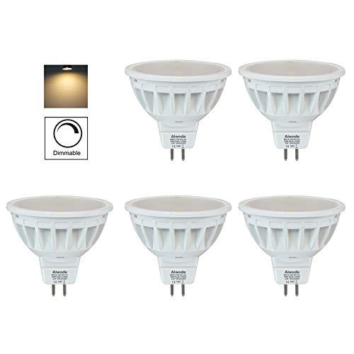Aiwode 5W Dimmbar MR16 LED Lampe Gu5.3 Scheinwerfer,Warmweiß 2700K Ersetzt 50W,500LM RA85 DC12V,5er Pack.