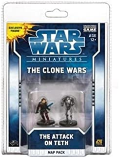 Wizards Of The Coast Star Wars Minitaures Clone Wars Scenario Map Pack 1 The Attack on Teth