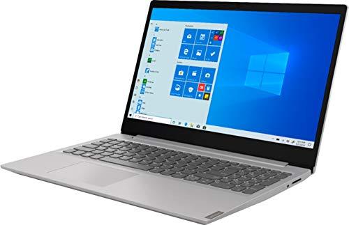 """2021 Lenovo IdeaPad 15.6"""" Full HD Laptop, AMD Ryzen 3 3200U Processor, 8GB RAM, 256GB SSD, AMD Radeon Vega 3, HDMI, Wi-Fi 5, Numeric Keypad, Windows 10 S, Platinum Gray, W/ IFT Accessories"""