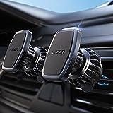 LISEN 2 Pack Magnetic Car Mount[6 Strong Magnets] [2021 Upgraded Clip], Magnetic Phone Holder for Car, Vent Car Phone Holder Mount Fit for 4-11in iPhone 13,13 pro,13 pro max, All Phone & Tablet