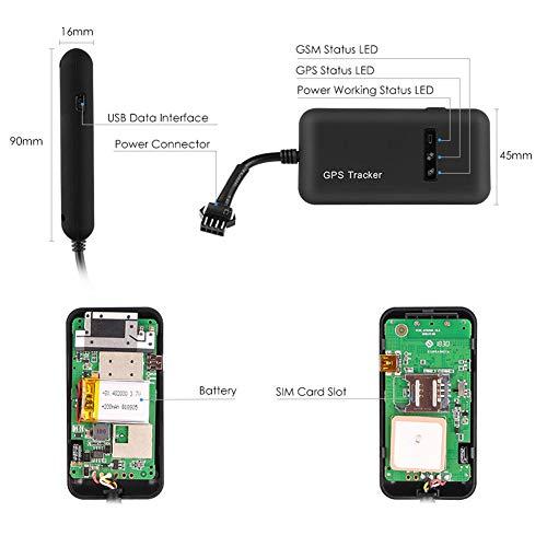 Rastreador GPS para Vehcile, Hangang GPS en tiempo real, localizador de vehículos GPS/GSM / GPRS/SMS, antirrobo para coche, motocicleta, GPS, dispositivo de seguimiento GT02A