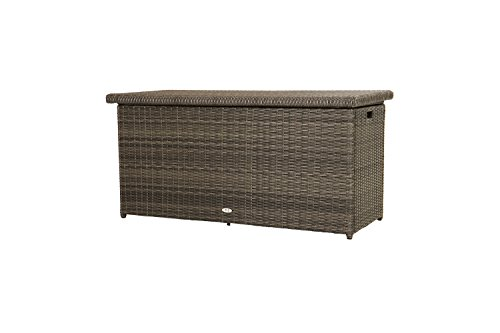 Ploß Outdoor furniture Rocking Kissenbox, 61 liters, Grau-braun-meliert, 145 x 58 x 73 cm