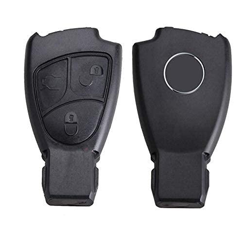 Hkgk 3 Tasten Autoschlüssel Fernbedienung Schlüssel Gehäuse Gehäuse Cover für Mercedes Benz C B E Klasse W203 W211 W204 YU BN CLS CLK