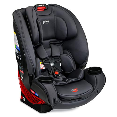 Britax One4Life ClickTight All-In-One Car Seat – 10 Years of Use – Infant, Convertible, Booster – 5 to 120 Pounds, Cool Flow Moisture Wicking Fabric, Cool N Dry Charcoal [Amazon Exclusive]