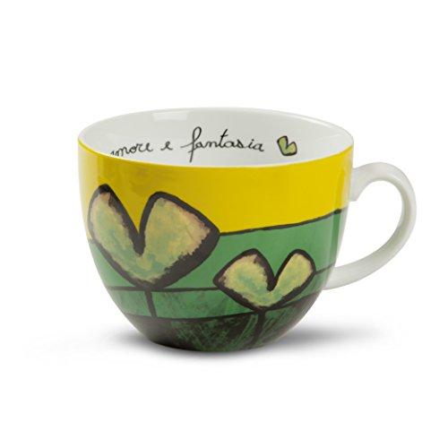 Egan PAF03/1V Tazza Colazione, Porcellana, Verde