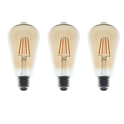 ZFQ Edison-lamp, LED, 4 W, komt overeen met halogeen, 40 W, glas, transparant, model ST64 in de vorm van een eekhoorn, fitting E27, warmwit, 2700 K, 400 lm, niet dimbaar, AC 220-240 V