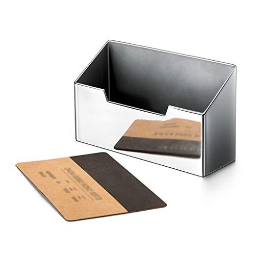 Tarjeteros de escritorio Titular de la tarjeta de visita de acero inoxidable creativo Hombres Caja de tarjetas de negocios las mujeres y, de negocios personalización de regalos, de gama alta de escrit
