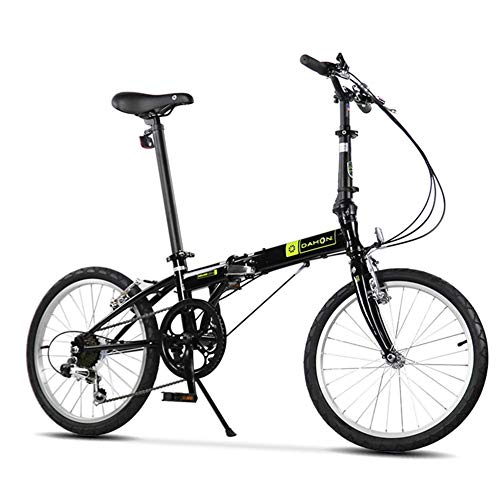 """Falträder, Erwachsene 20\"""" 6 Geschwindigkeit Variable Geschwindigkeit Klapprad, Verstellbarer Sitz, leichte, tragbare Folding Stadt-Fahrrad, Weiss FDWFN (Color : Black)"""