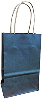 Navy Blue Kraft Paper Gift Wrap Bags (Small 5.5