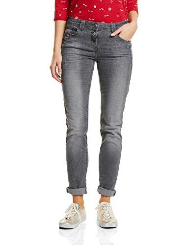 CECIL Damen Scarlett Jeans, Mid Grey Used Wash 10324, 26W / 30L