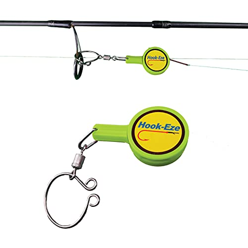 HOOK-EZE Fishing Knot Tying Tool for Fishing Hooks on Fishing Poles – Cover Hooks on Fishing Rods | Line Cutter | for Saltwater Freshwater Bass Kayak Ice Fishing