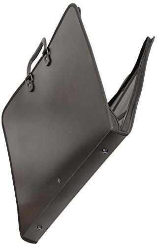 Clairefontaine ZPC-A3Z Press Book Zeichenmappe (PP, Reißverschluß, Griff, innen Gummizüge, Schutzkappen zum Abstellen, für DIN A3, 29,7 x 42 cm) schwarz