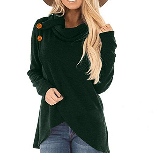 Cheapest Price! Sweatshirts for Women, Pervobs Women Autumn Long Sleeve Turtleneck Sweatshirt Loose ...